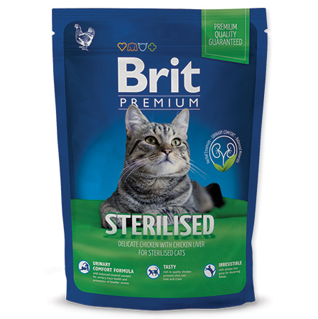 NEW Brit Premium Cat ADULT STERILISED 300g