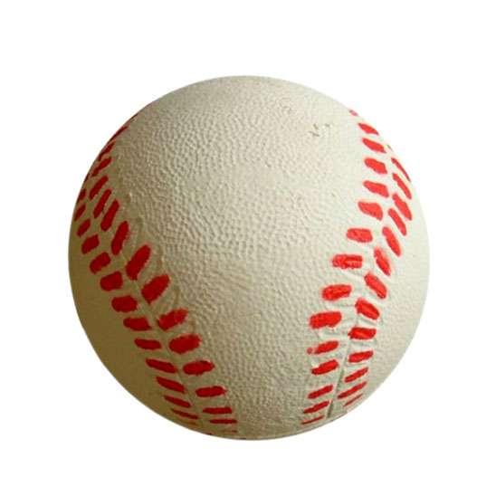 Míč baseball 6,3cm - pěnový latex