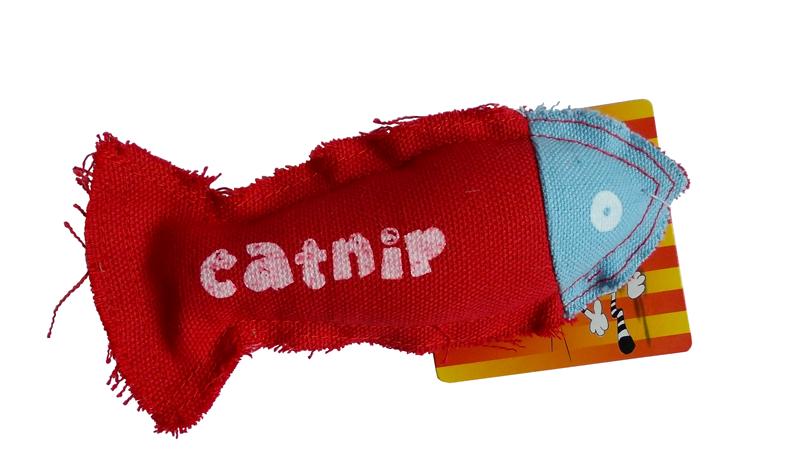 Hračka pro kočky textil s catnipem 15cm
