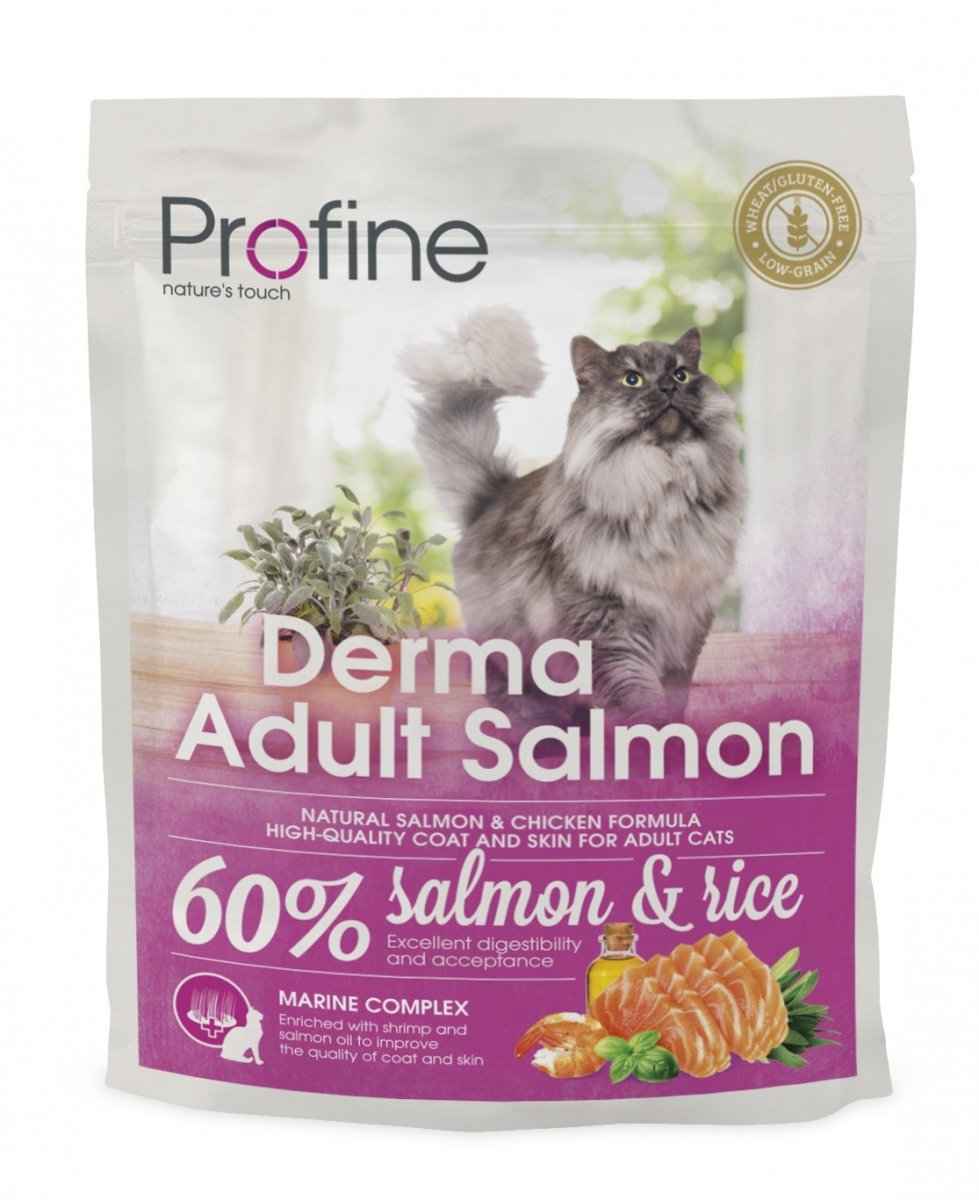 NEW Profine Cat Derma Adult Salmon 300g