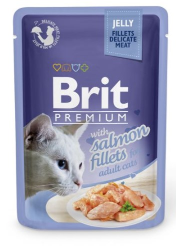 Brit Premium Cat Delicate Fillets in Jelly with Salmon 85g