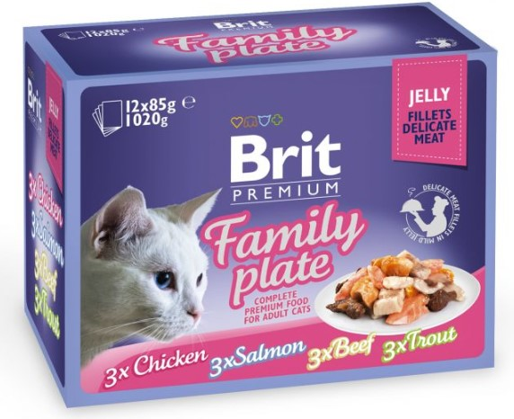 Brit Premium Cat Delicate Fillets in Jelly Family Plate 1020g (12x85g)