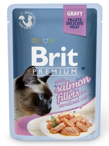 Brit Premium Cat Delicate Fillets in Gravy Salmon Sterillised 85g