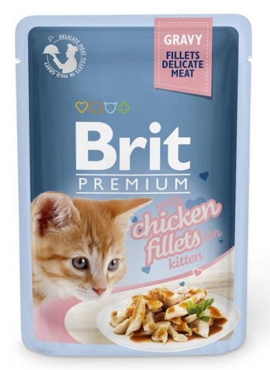Brit Premium Cat Delicate Fillets in Gravy Chicken for Kitten 85g