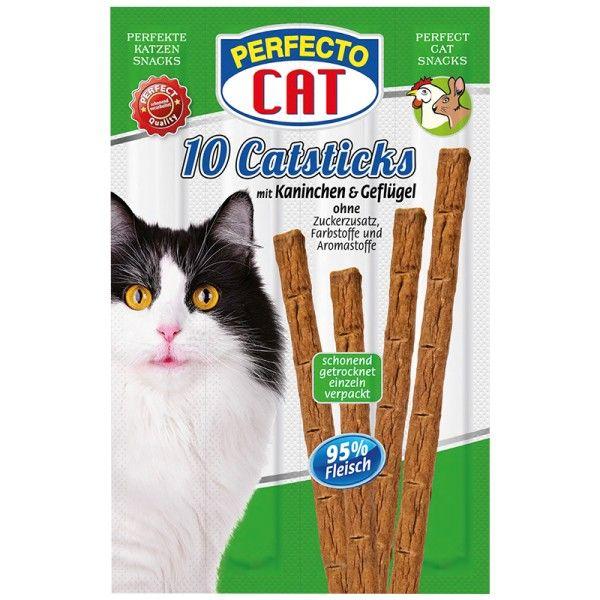 Perfecto Cat Masové tyčky králík & drůbeží 50g (10ks)