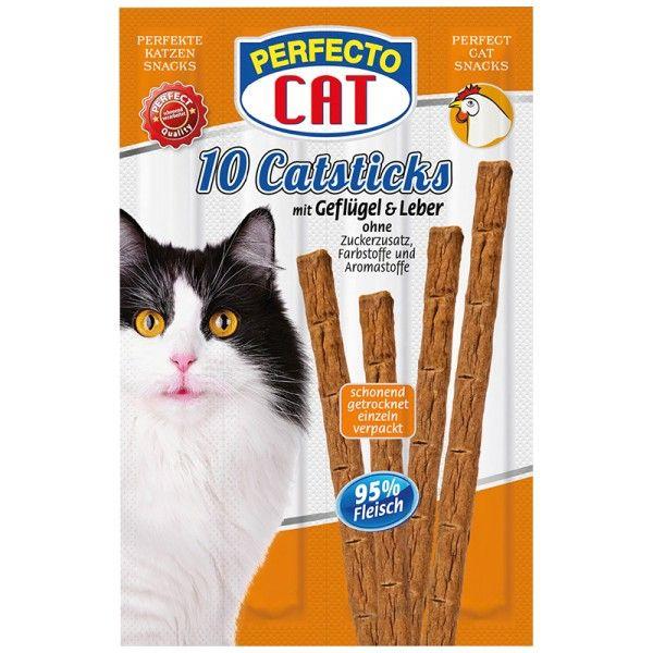 Perfecto Cat Masové tyčky játra & drůbeží 50g (10ks)
