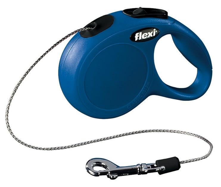 Vodítko Flexi Classic XS 3m (max 8kg) lanko modrá