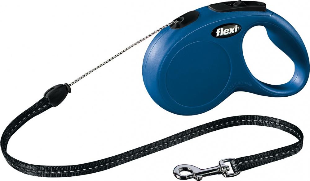Vodítko Flexi Classic M 5m (max 20kg) lanko modrá