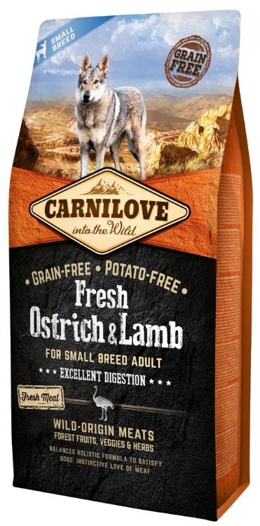 Carnilove Dog Fresh Ostrich & Lamb for small breed 6kg