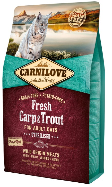 Carnilove Cat Fresh Carp & Trout - Sterilized 2kg