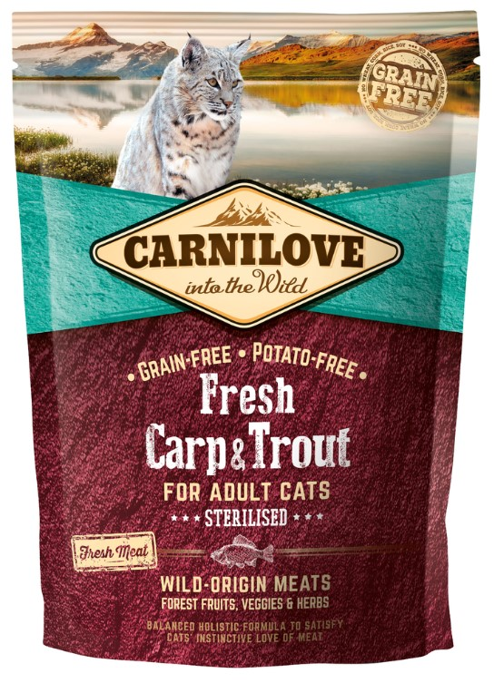 Carnilove Cat Fresh Carp & Trout - Sterilized 0,4kg
