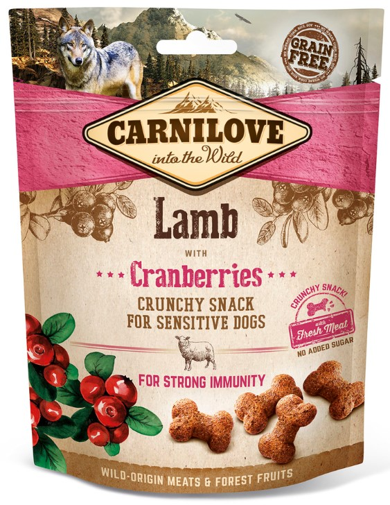 Carnilove Dog Crunchy Snack Lamb & Cranberries 200g