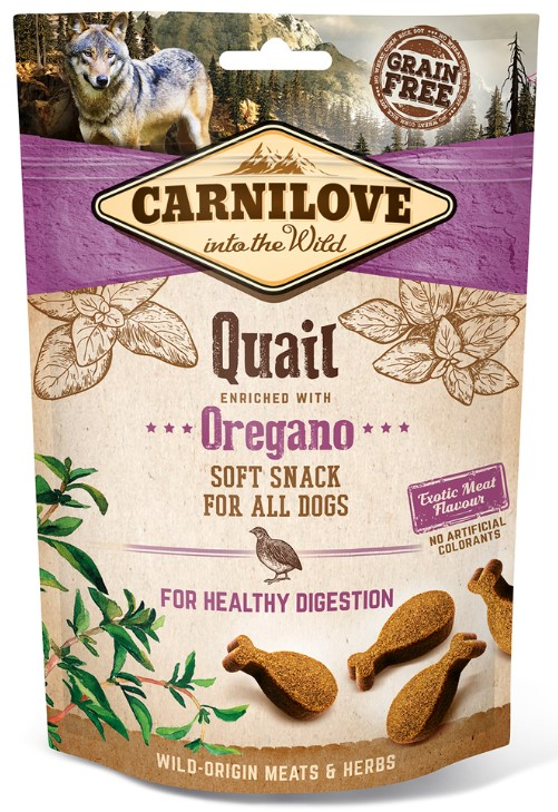 Carnilove Dog Semi Moist Snack Quail & Oregano 200g
