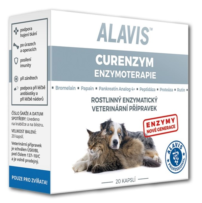 ALAVIS Curenzym Enzymoterapie 20 kapslí