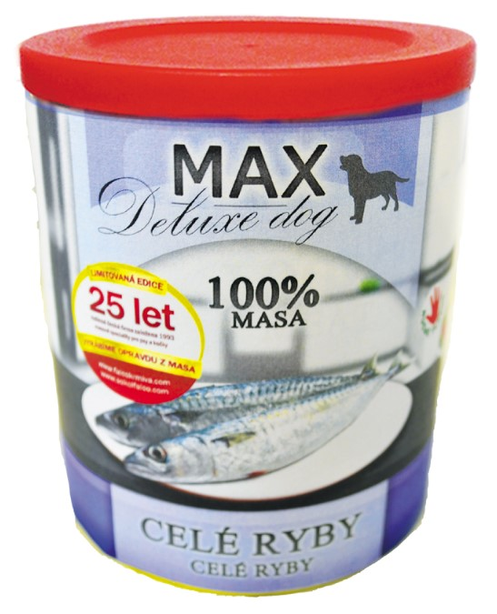 MAX deluxe celé ryby 800g