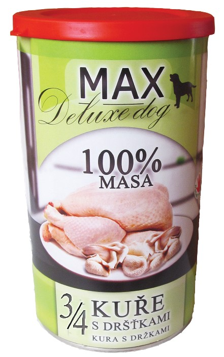 MAX deluxe 3/4 kuřete s dršťkami 1200g