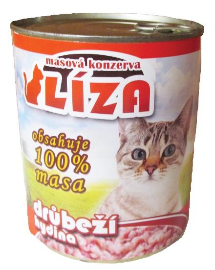 LÍZA cat drůbeží 800g