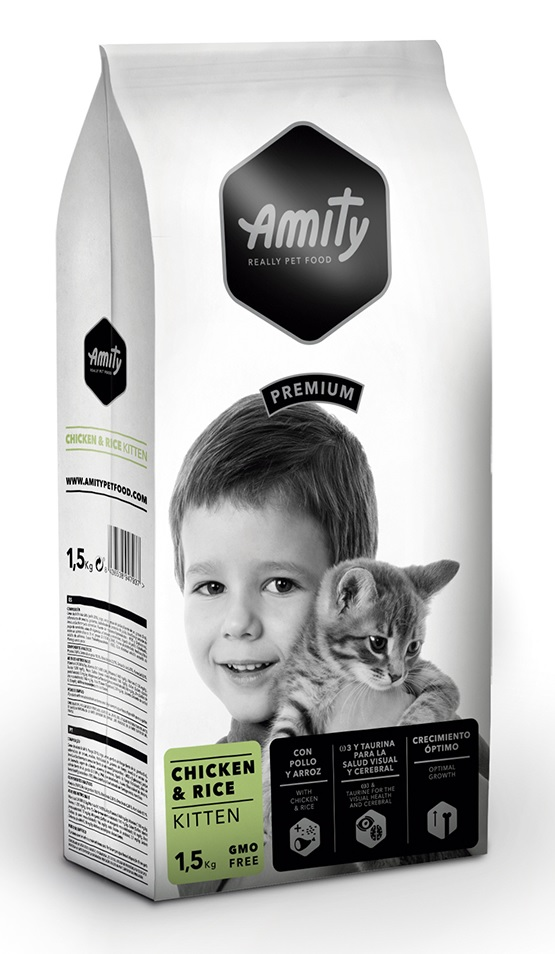 AMITY premium cat KITTEN Chicken & Rice 1,5kg