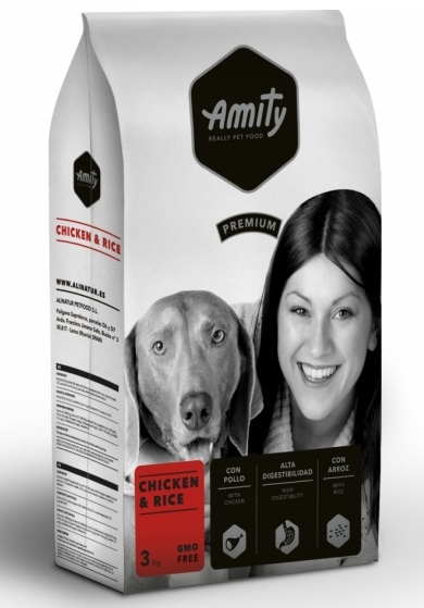 AMITY premium dog Chicken & Rice 3kg