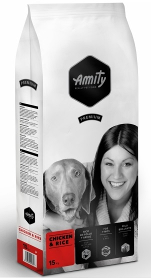 AMITY premium dog Chicken & Rice 15kg