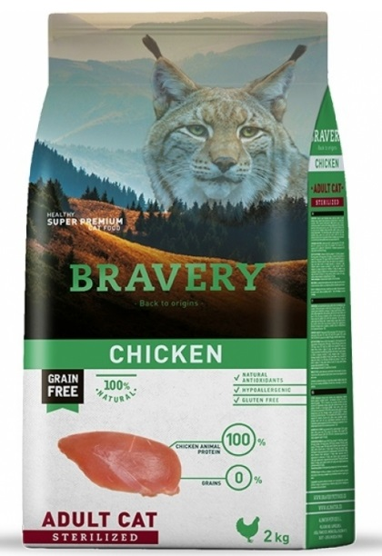 BRAVERY cat STERILIZED Grain Free chicken 2kg