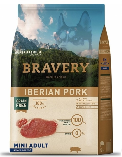 BRAVERY dog ADULT MINI Grain Free Iberian pork 2kg