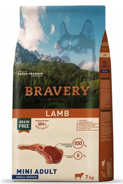 BRAVERY dog ADULT MINI Grain Free lamb 7kg