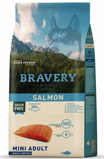 BRAVERY dog ADULT MINI Grain Free salm PRODEJNAon 7kg