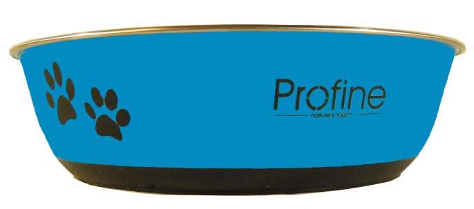 Profine nerezová miska 1,5l s gumou L (modrá)