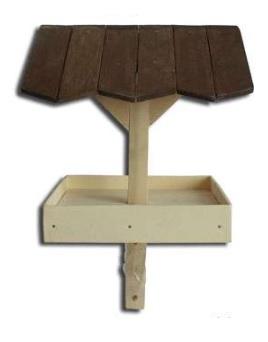 Dřevěné krmítko zápich