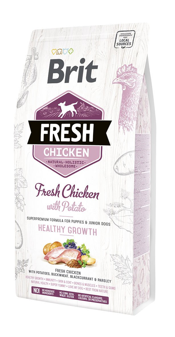 Brit Fresh Chicken & Potato Puppy Healthy Growth 2,5kg
