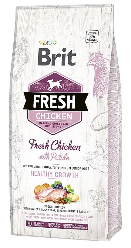 Brit Fresh Chicken & Potato Puppy Healthy Growth 12kg
