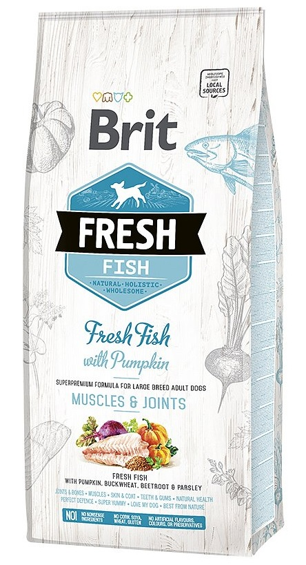 Brit Fresh Fish & Pumpkin Adult Large 12kg