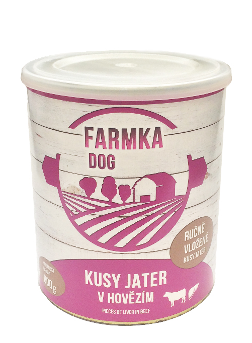 FARMKA DOG masová konzerva s játry 800g