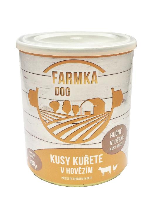 FARMKA DOG masová konzerva s kuřetem 800g