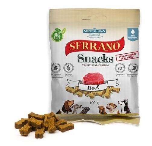 Serrano Snack Meditky hovězí 100g - tréninkové kostičky