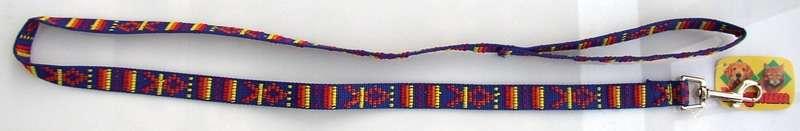 Vodítko nylon indiánský vzor 20mm x 120cm