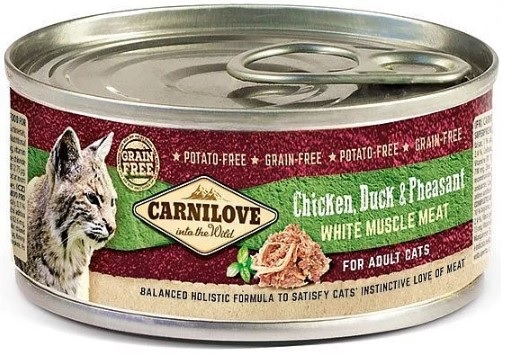 Carnilove WMM Chicken, Duck & Pheasant for Adult Cats 100g