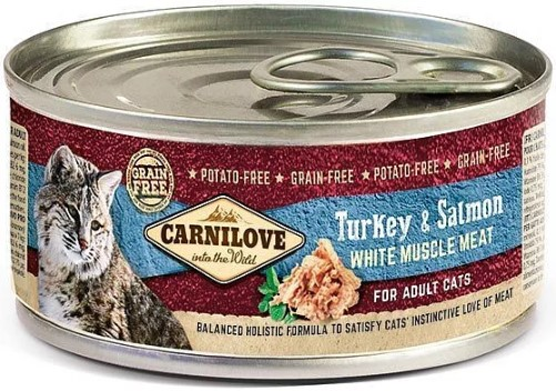 Carnilove WMM Turkey & Salmon for Adult Cats 100g