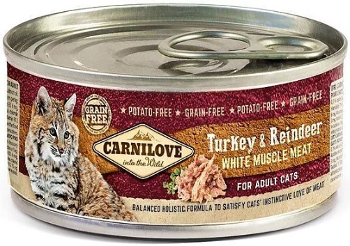 Carnilove WMM Turkey & Reindeer for Adult Cats 100g
