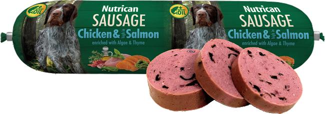 Nutrican Sausage Chicken & Salmon 800 g