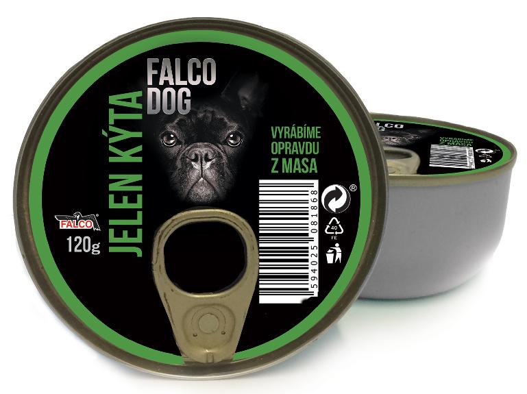 FALCO DOG masová konzerva jelení kýta 120g