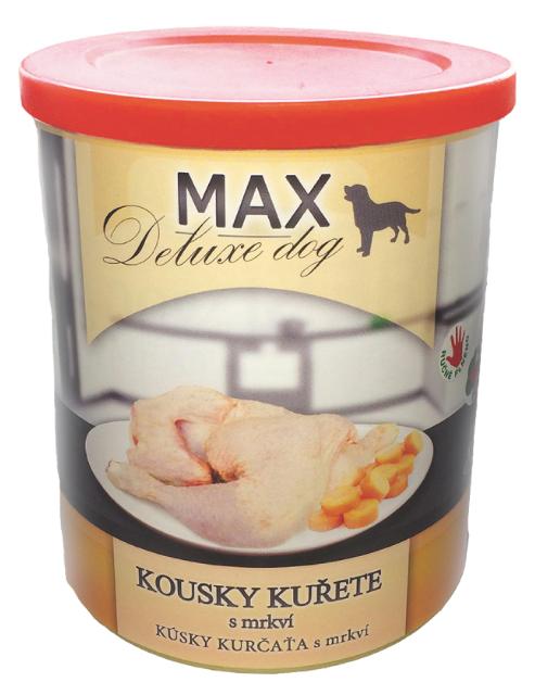 MAX deluxe kousky kuřete s mrkví 800g