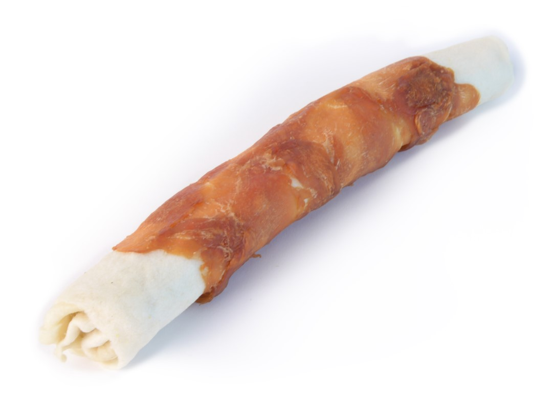 "Magnum Chicken Roll on Rawhide stick 10"" 105g 5+1 ZDARMA"