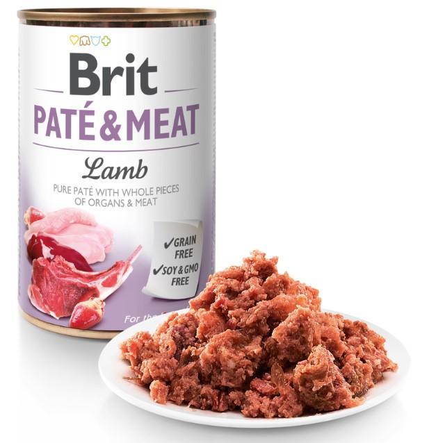 Brit Paté & Meat Lamb 400g 5+1 ZDARMA