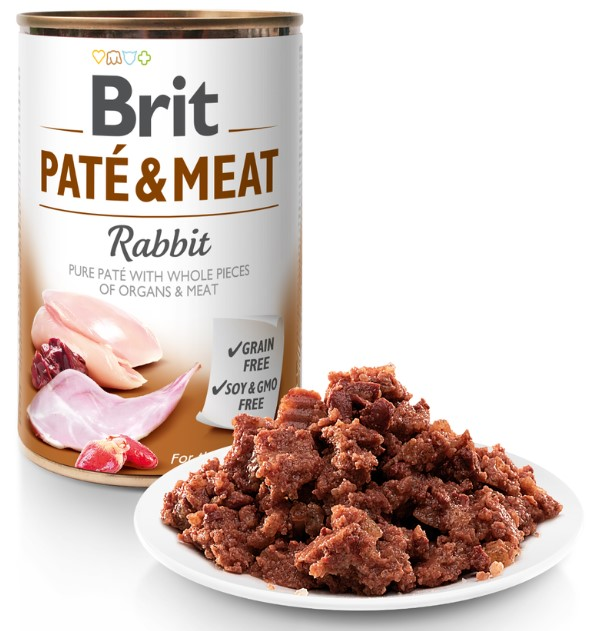 Brit Paté & Meat Rabbit 400g 5+1 ZDARMA