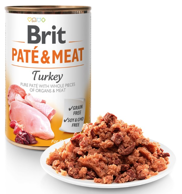 Brit Paté & Meat Turkey 400g 5+1 ZDARMA