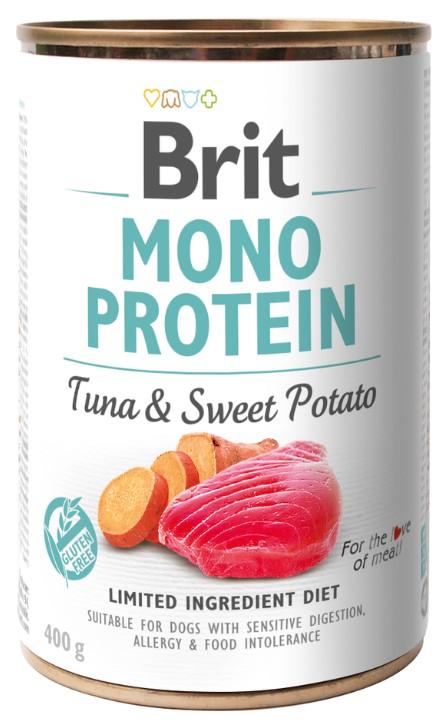 Brit Mono Protein Tuna & Sweet Potato 400g 5+1 ZDARMA
