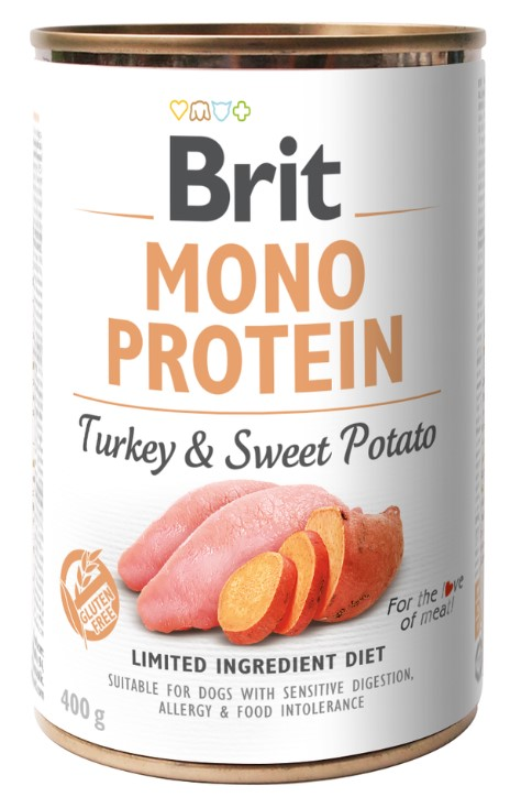 Brit Mono Protein Turkey & Sweet Potato 400g 3+1 ZDARMA