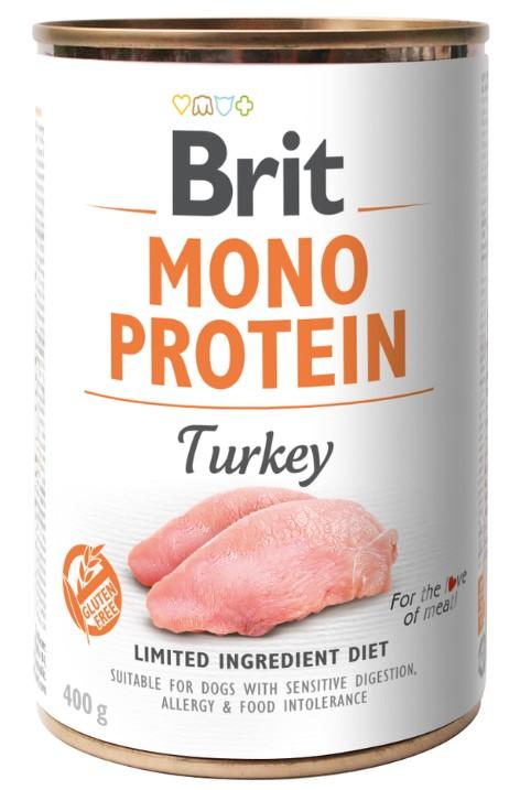 Brit Mono Protein Turkey 400g 3+1 ZDARMA